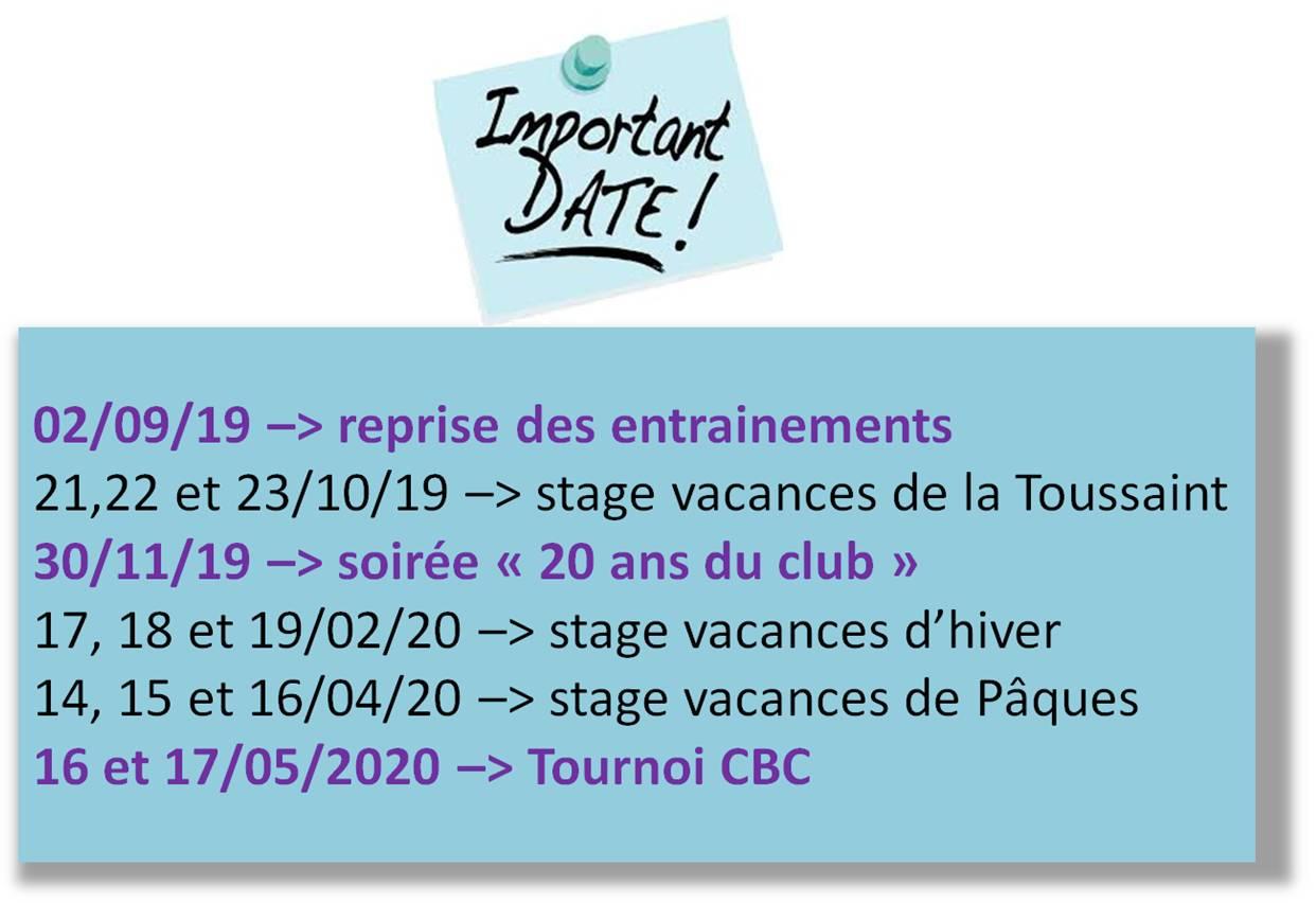 dates 2019 2020